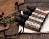 Mens Stocking Stuffer Beard Oil Sampler Wild Man Beard Conditioner - Trial Size Sampler Mens Grooming Gift