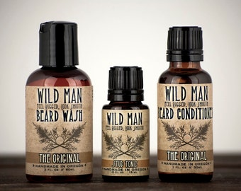 mens grooming kit wild man beard gift set three pack. Black Bedroom Furniture Sets. Home Design Ideas