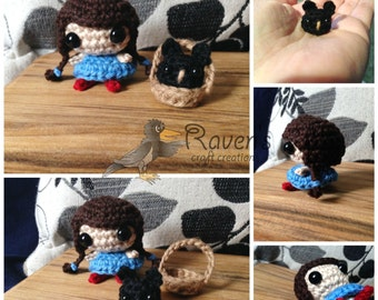 Wizard of Oz amigurumi characters- MADE to ORDER- Dorothy and Toto, Cowardly Lion, Tin Man, Scarecrow