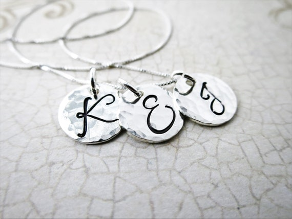 Monogram Necklace | Sterling Silver Initial Jewelry | Custom Jewelry | Personalized Jewelry | Mommy Jewelry | Bridesmaids Gift | Script