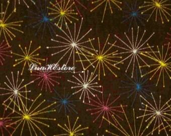 Firework, brown, 1/2 yard, pure cotton fabric