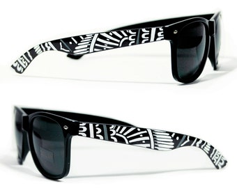 Sunglasses - Mandala - Handpainted Custom Wayfarers