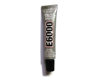 E6000 Industrial Strength Adhesive - 0.18 fl oz. - 5.3 ml - Craft Glue - Craft Adhesive - Small Tube