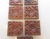 Vintage Architectural Wood Blocks Hand Carved