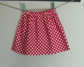Girls Red Polka Dot Skirt Christmas Holiday Twirl Skirt  Red Polka Dot Girls - Toddlers