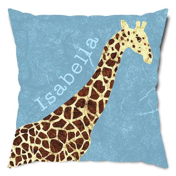 Personalized Giraffe Throw Pillow