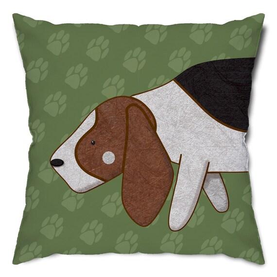 Super Sniffer Basset Hound Throw Pillow