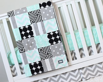 black crib bedding mint grey black modern nursery baby bedding set grey