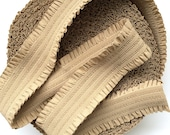 "3"" Beige Stretch Elastic Band with Frills"