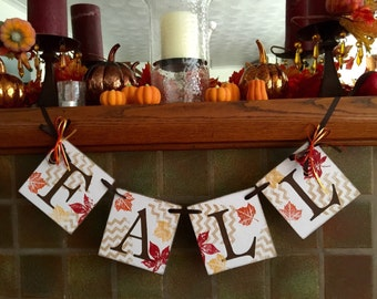 Fall banner - Fall decorations - Thanksgiving banner- harvest decoration - fall mantle decoration- fall home decor