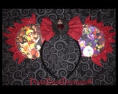 Wickedly Perfect Disney Villains OOAK Mouse Ears with Glitter Flame Accent!!