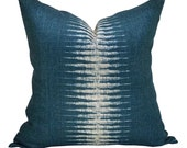 Peter Dunham Textiles Ikat pillow cover in Peacock - ON BOTH SIDES