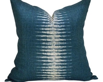 Ikat pillow cover in Peacock