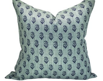 Rajmata Tonal pillow cover in Blue/Blue - ON BOTH SIDES