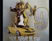 Bumblee Bee birthday party cake topper -PS