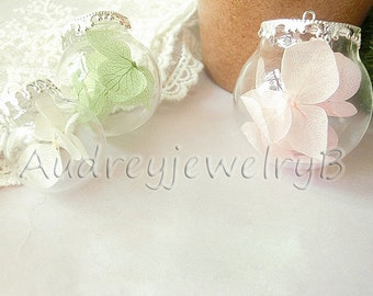 1set-Diy handmade Dried flowers glass Bottle  Necklace Make A Wish Necklace  Dandelion Necklace  Jewelry necklace fitting