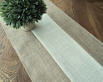 Burlap Table Runner Modern Rustic Home Decor Farmhouse Table Runner Bridal Shower Decorations Holiday Table Runner Custom Sizes Available