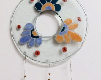 Wind Chime - Flowers from Recycled Glass