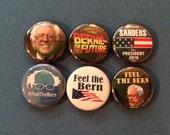 "6 Brand New 1"" ""Bernie Sanders"" Buttons"