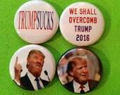 "8 Brand New 1"" ""Anti Donald Trump"" Buttons"
