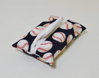 Fabric Tissue Holder - Pocket Tissue Pouch - Tissue Cover - Purse Accessory - Baseball fan - Sport Theme - Thank You Gift - Teacher Gift