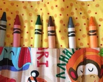 Jungle Party Crayon Roll