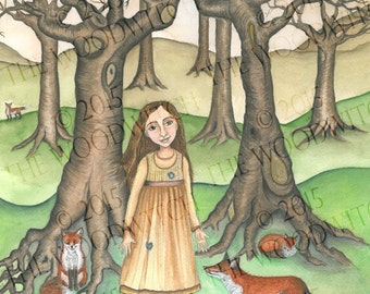 The Girl Who Lived With Foxes - Fine Art Print