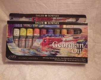 SALE-Oil Paints Introductory Set by Georgian Complete with 10 Colors and Instruction Booklet