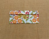 Organizational Pouch - Toothbrush - To Do List - Home Decor File - First-Aid Kit Portable Travel Size Pouch - blue, green, orange, flowers