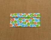 Organizational Pouch - Toothbrush - To Do List - Home Decor File-First-Aid Kit Portable Travel Size Pouch-orange, green, turquoise circles