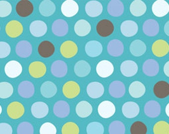 86201 - Quilting Treasures - What little boys R made Dots 1649-22351-Q turquoise -  1 yard