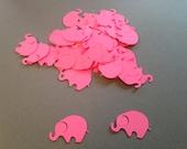 100 Hot Pink Elephant Confetti, Elephant Baby Shower, Elephant Cutout, Elephant Die Cut, Elephant Confetti, Pink Elephant, Elephant Theme