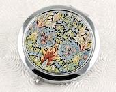 Victorian Style Compact Mirror, Vintage William Morris Design Purse Mirror, Floral Pocket Mirror, Bridesmaid Gift, Feminine Gift