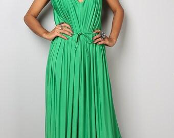 Green Dress - Long Green Sleeveless Dress : Classy Evening Dress Collection