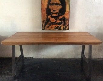 Reclaimed Wood Dining Table   Made in L o s  A n g e l e s