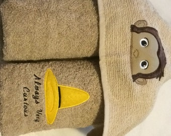 A curious monkey named george hooded towel! Sooooo cute and perfect for bathtime!!!