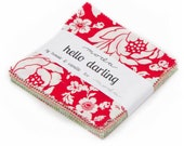 Hello Darling Charm Pack by Bonnie & Camille - 42 Five Inch Squares from Moda