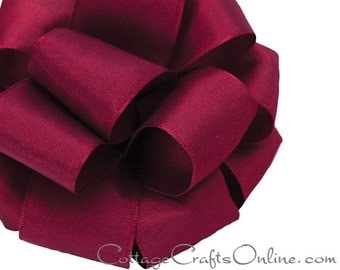 "Wired Ribbon, 2 1/2"" Red Wine Maroon Taffeta - FIFTEEN YARD ROLL  - Offray ""Revogue Wine"" Fall, Thanksgiving, Christmas Wire Edged Ribbon"