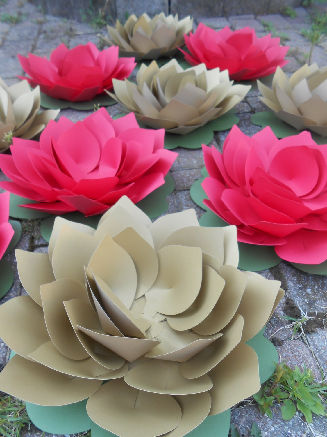 HUGE 12 Lotus Flowers. CHOOSE Your COLORS. Wedding, Event, Favor ...