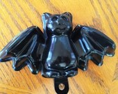 Vintage Cute and Smiling Big Black Bat Soap Mold