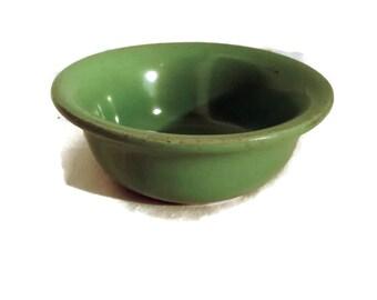Vintage pottery Hall Bowl , Green glaze