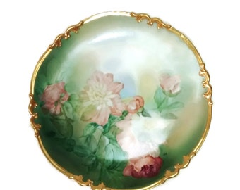 Large French Limoges Charger, A Klingenberg , 1905 Hand Painted Porcelain , Signed SNW