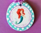 12 Little Mermaid Princess Ariel Birthday Party Favor Tags