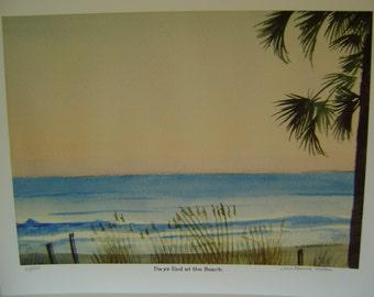 Days End a the Beach Giclee