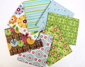 Summer Song - Fat Quarter Bundle - Set of 7- by Zoe Pearn for Riley Blake - FQ-4620-21