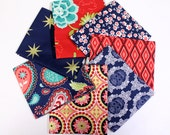 La Vie Boheme Fat Quarter Bundle - Set of 7- by The Quilted Fish and Riley Blake - FQ-4740-21