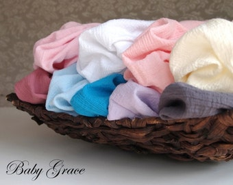 Newborn Wrap, Cotton Muslin Swaddle Wrap, Newborn Photo Prop, Baby Gauze Wrap, Newborn Photography Props, Newborn Wrap, Cotton Swaddle