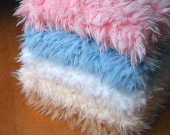 Faux Fur Flokati, Newborn Photo Prop, Faux Fur Fabric, Newborn Photography Backdrop, Ready to Ship Basket Stuffer, Faux Fur Blanket