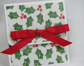 Holly & Berries Merry Christmas Gift Card Holder