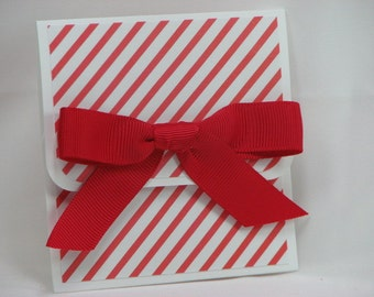 A Pinstripe Merry Christmas Gift Card Holder